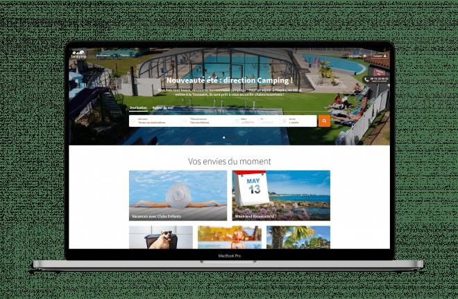 Maquette site web responsive Familytrip