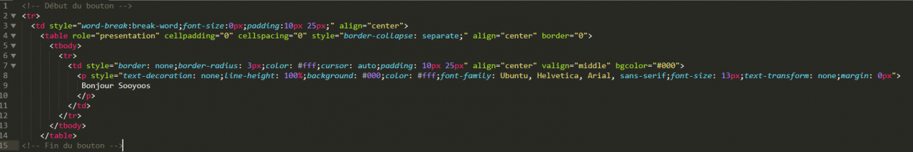 Bouton en HTML : 15 lignes